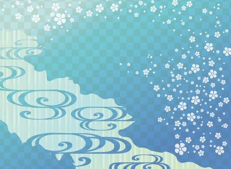 Pop Japanese pattern (Blue)