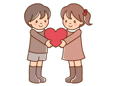 Heart and boys and girls