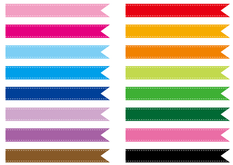Ribbon for titles Each color