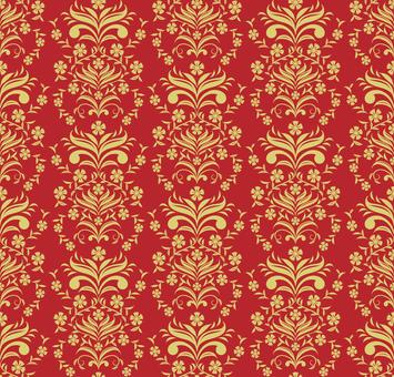 Chinese pattern-stone bamboo pattern (gold)