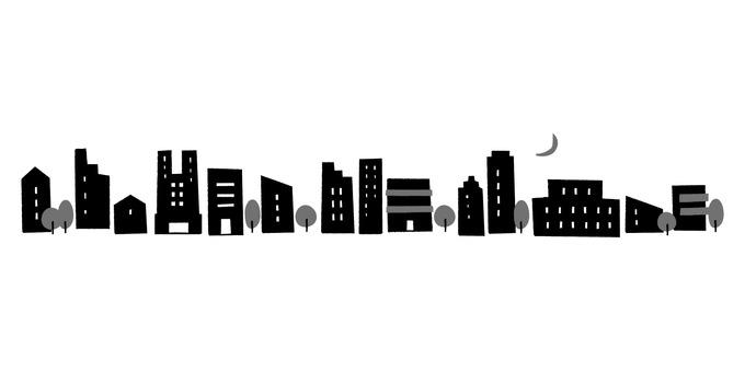 Cityscape_hand drawn_night view