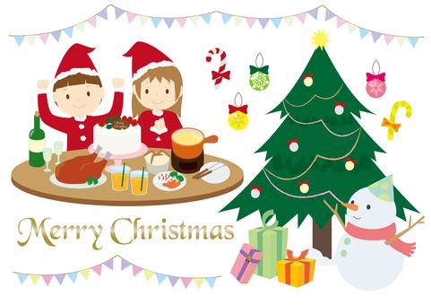 크리스마스 파티와 장식