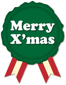 Christmas seals green