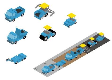 Pavement construction vehicle