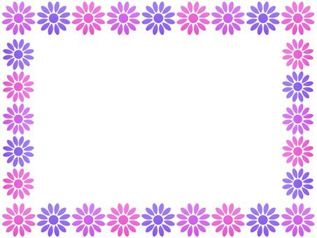 お花のフレーム3 ピンク系
