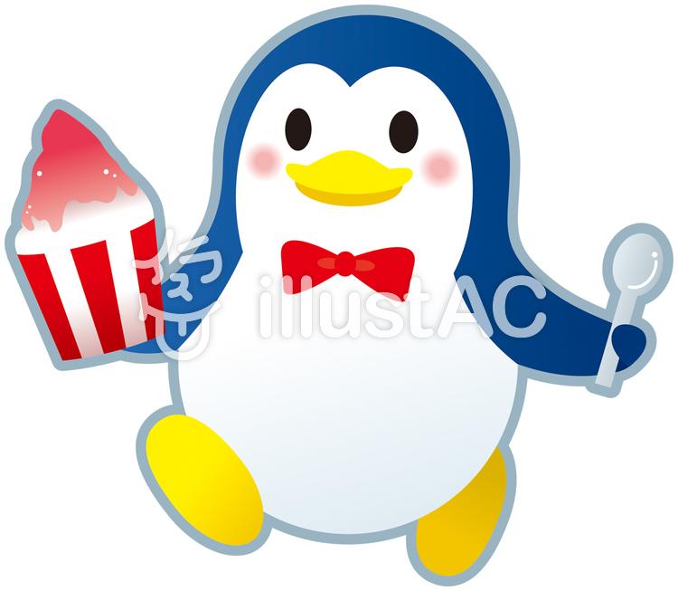ペンギンのかき氷イラスト No 479208無料イラストならイラストac