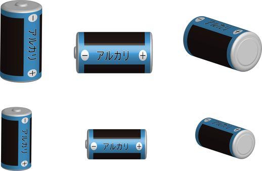 Single & single battery (alkali)
