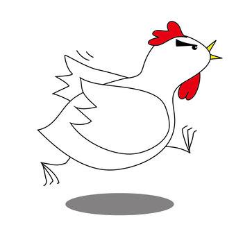 Chicken trying hard