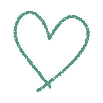Hand-painted heart _ green color