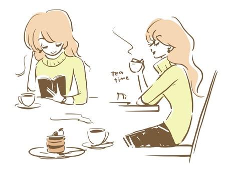 Cafe time older sister