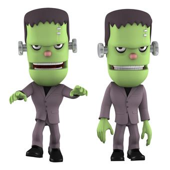 Franken 3D illustration