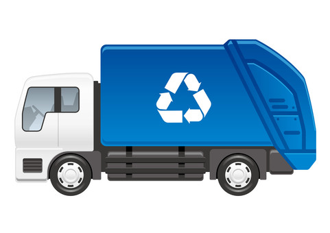 Illustration of garbage truck