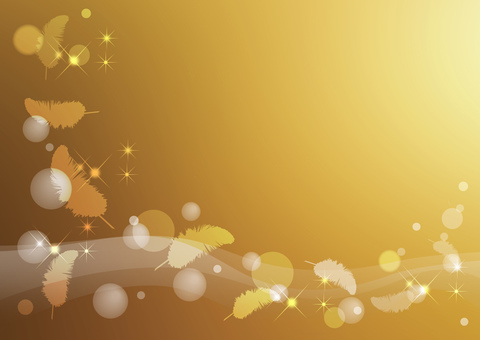 Feather _ gold background