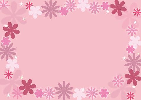 꽃 프레임 핑크 계열