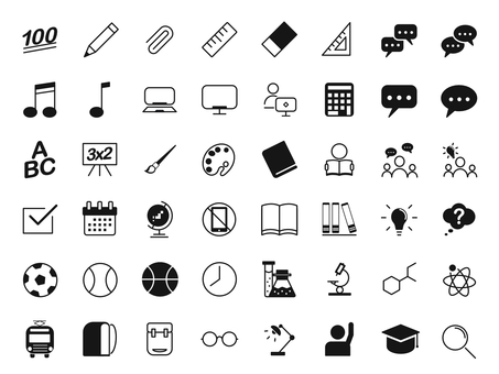 School 48 icon set