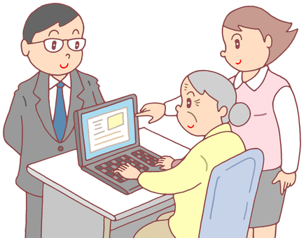 Computer classroom for the elderly