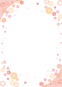 Japanese style flower frame