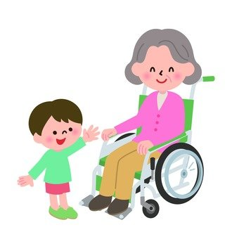 Wheelchair Grandma and Grandchild