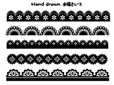 Hand drawn stick lace A