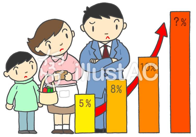 消費税のイラスト