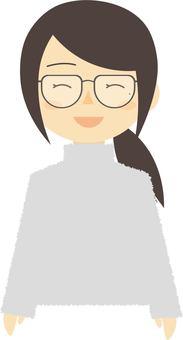 Glasses girl 3