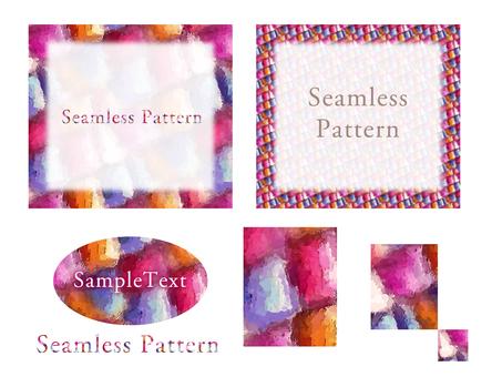 Seamless pattern glass work Watercolor Wind P