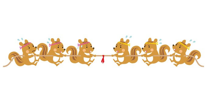 다람쥐 줄다리기