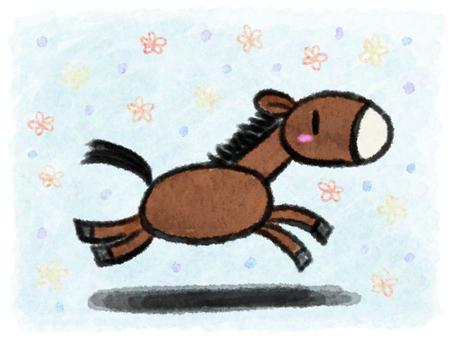 Horses (running)
