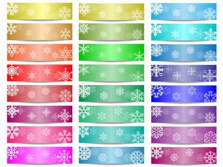 Snow crystal banner