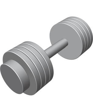 Dumbbell muscle training weight training