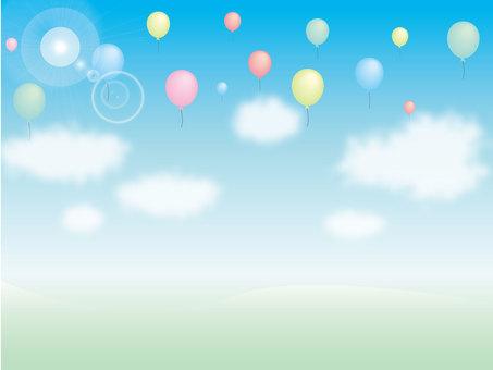 푸른 하늘과 풍선