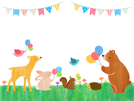 Balloons and animals