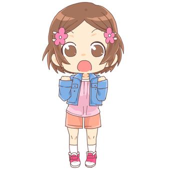 Deformed girl normal