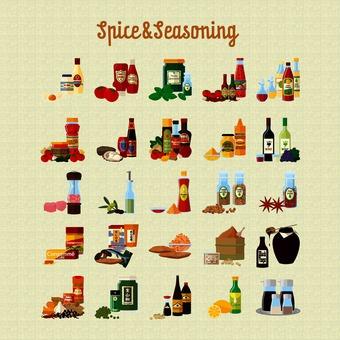 Spices & seasonings illustration