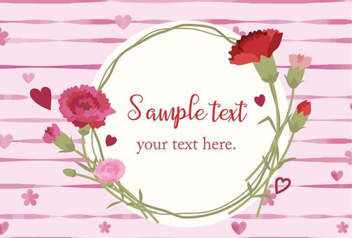 Flower card pink 04