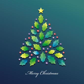 Arbre de Noël 001 texture aquarelle