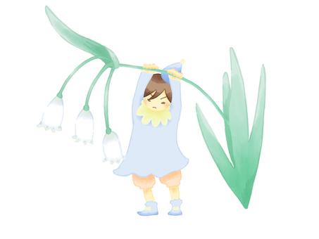 Snowflake and dwarfs flower language · purity