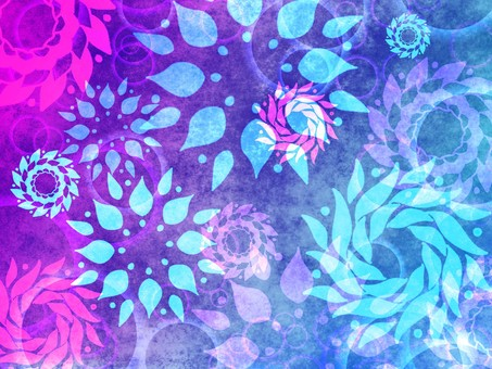 Blue flower pattern background