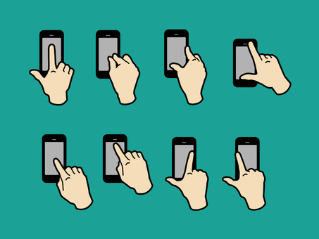 手和手指來操作智能手機04