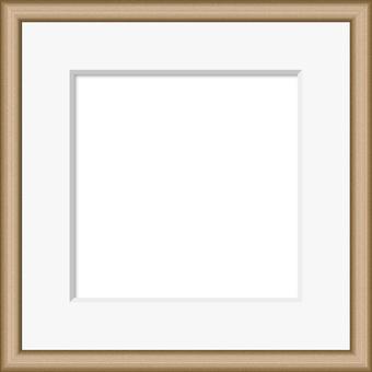 Wood grain frame 1 light brown (with mat)