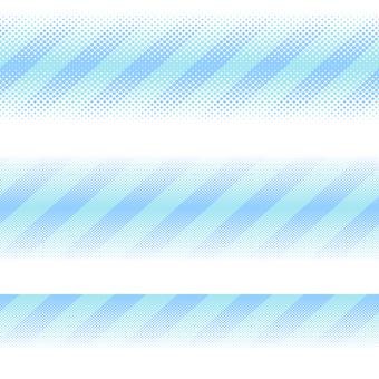ドットグラデーション8・ブルー
