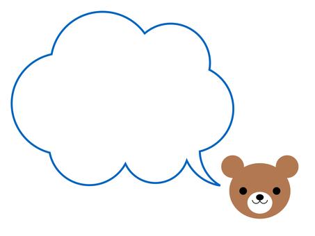 곰 풍선 프레임 동물 파랑