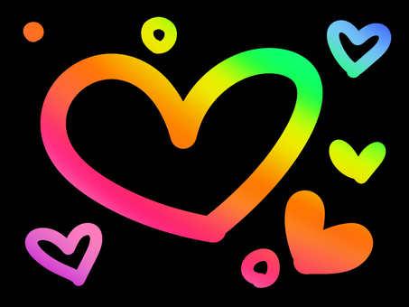Rainbow Heart 【Large】
