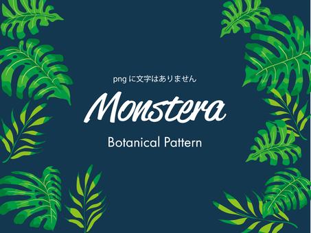 Monstera frame