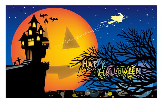 Halloween night view