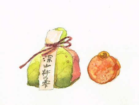 Japanese sweets watercolor