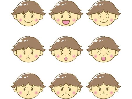 Infant / boy face 01