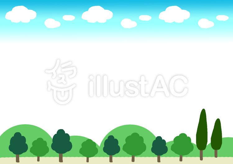 森の枠イラスト No 69624無料イラストならイラストac