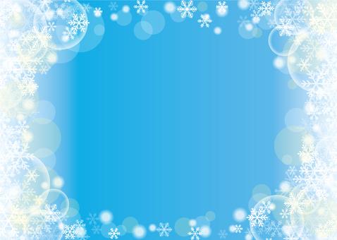 Snow crystal background (blue / sideways)