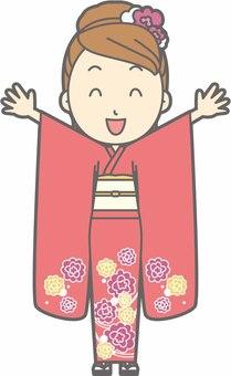 Kimono female a - Banzai - whole body